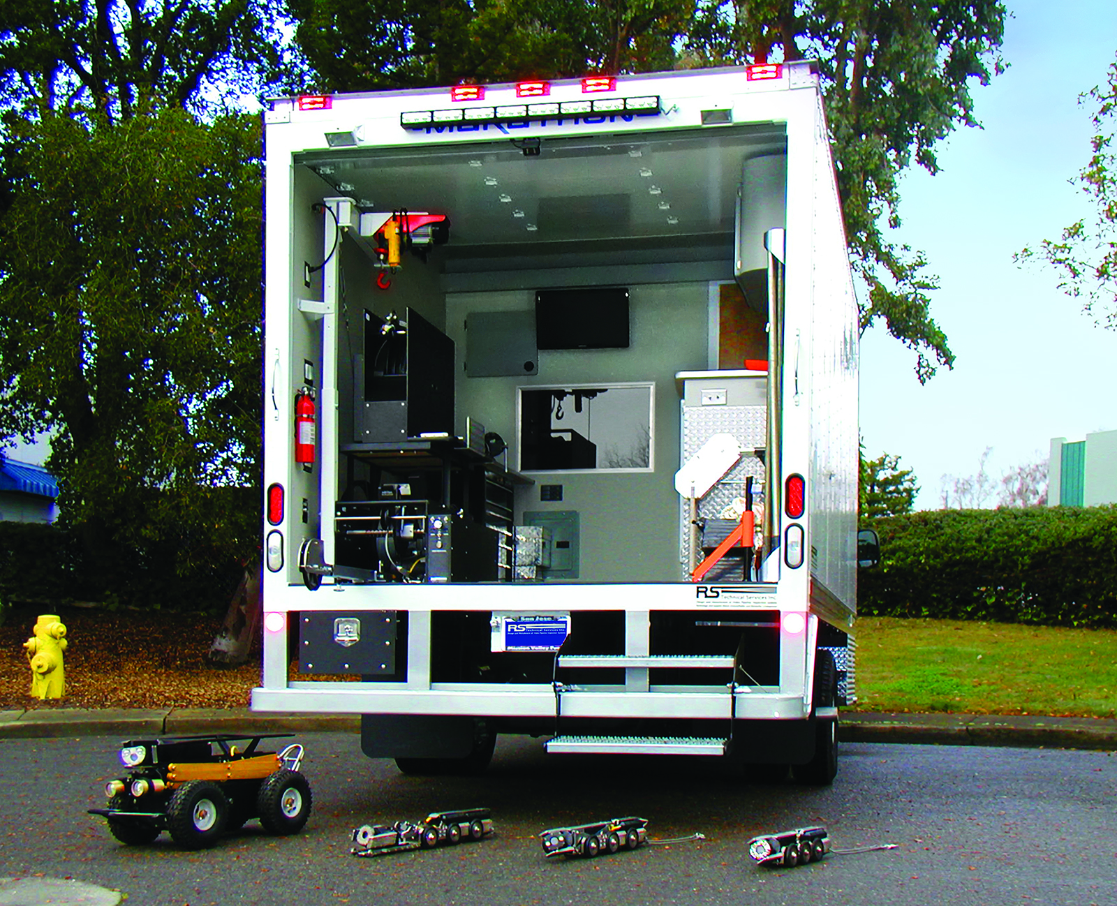 High Cube Pipeline Inspection Truck